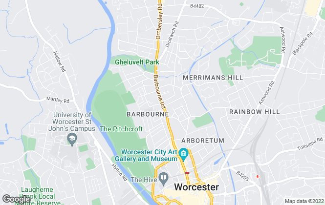 Map for Nicol & Co, Worcester