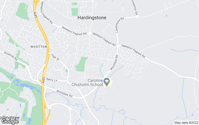 Map for Merry's Estate Agents, Wootton