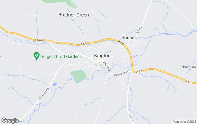 Map for McCartneys LLP, Kington