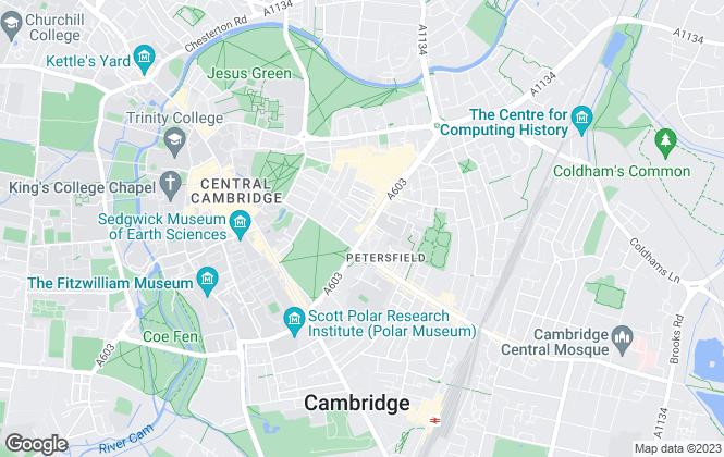 Map for Cambridge Property Investments Ltd, Cambridge
