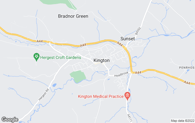 Map for Russell Baldwin & Bright, Kington