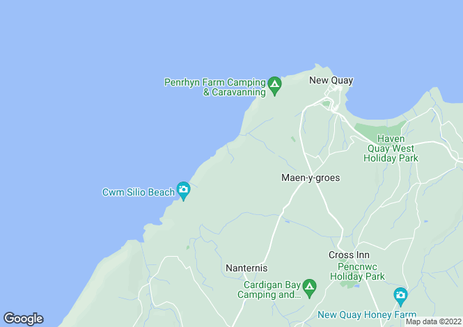 Map for Middle Barn Cottage, Byrlip, New Quay, Ceredigion