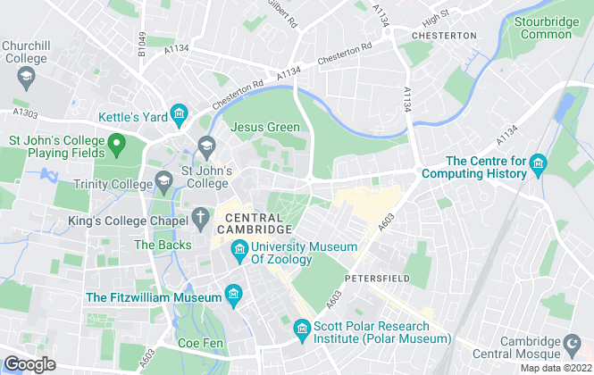 Map for King Street Lettings, Cambridge