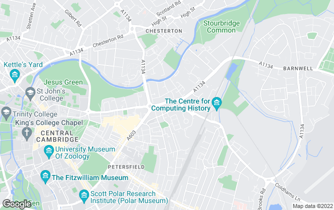 Map for Radcliffe & Rust Estate Agents, Cambridge