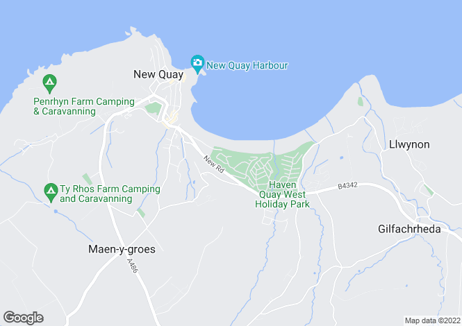 Map for Morfa Gwyn Apartments, New Quay, Ceredigion