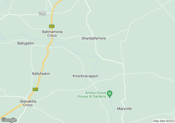 Map for North Lodge, Ballygriggan, Castletownroche, Co Cork