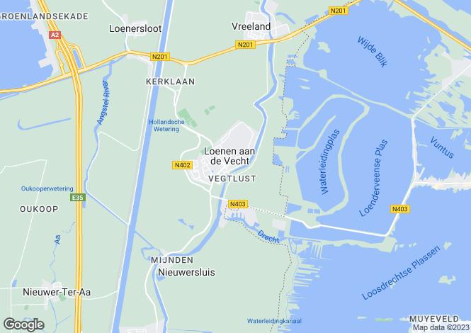 Map for Utrecht, Loenen Aan De Vecht