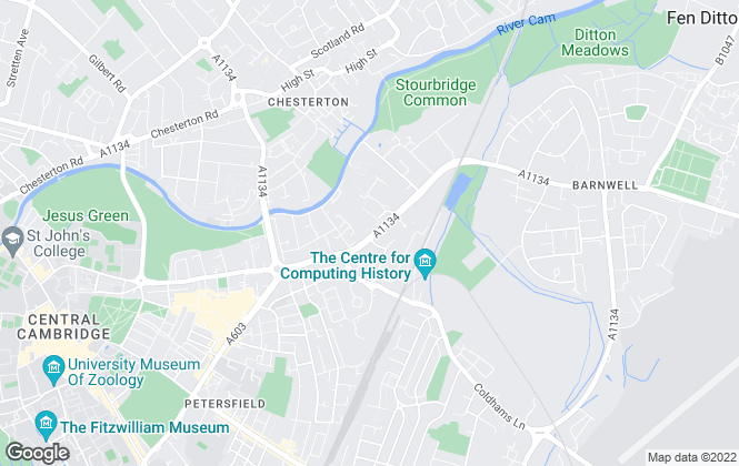 Map for Elevation, Cambridge