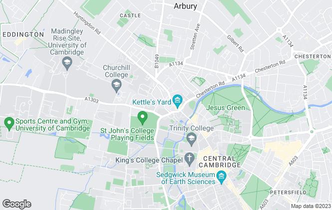 Map for Barker Storey Matthews, Cambridge