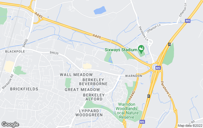 Map for FreeAgent247.com, Worcestershire