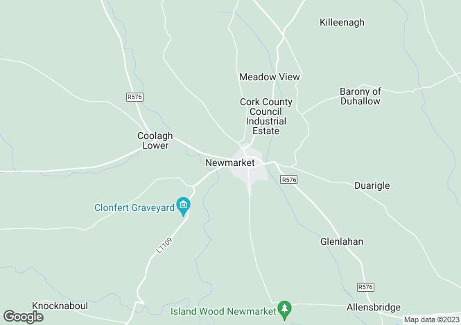 Map for Riverside, Meens, Newmarket, Cork