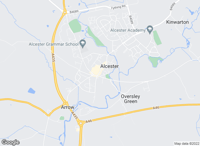 Map for Sanders & Sanders, Alcester- Lettings