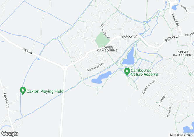 Map for Brookfield Way, Lower Cambourne