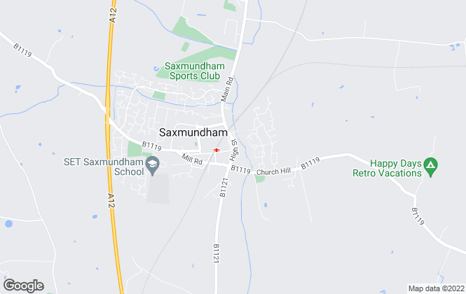 Map for Jennie Jones Estate Agents, Saxmundham