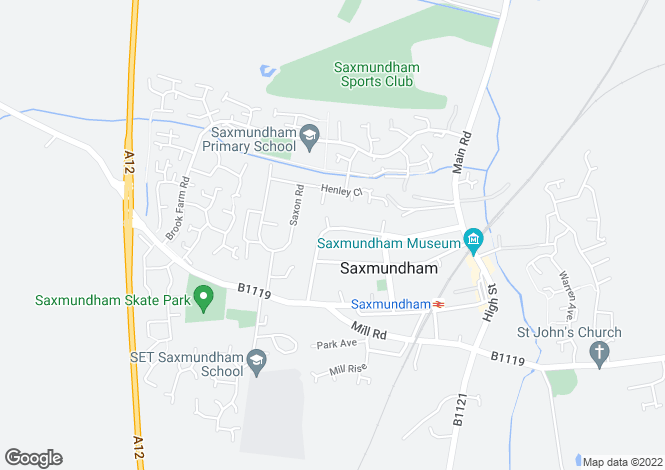 Map for Fairfield Road, Saxmundham
