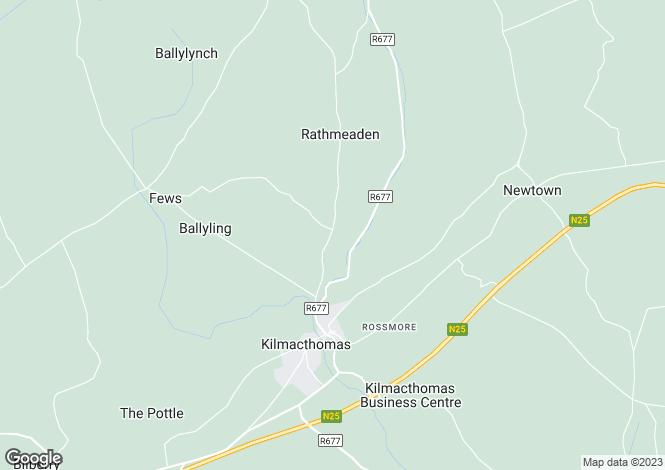 Map for Site At Kilnagrange, Kilmacthomas, Co Waterford
