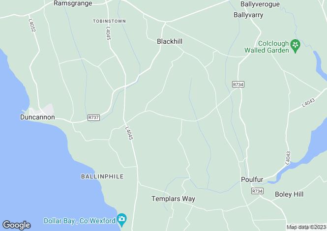 Map for Pebble Drive, Kilbride, Duncannon, Wexford