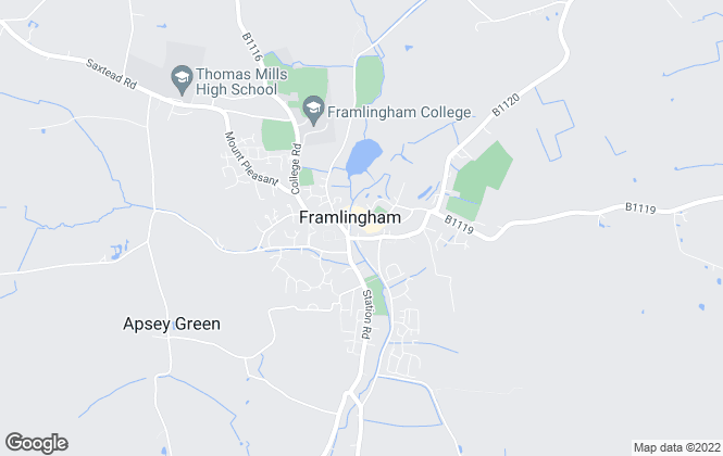 Map for William H. Brown, Framlingham