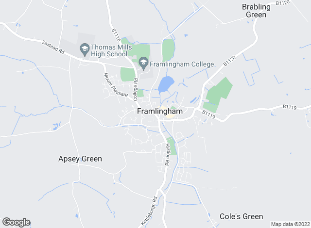 Map for Clarke & Simpson, Framlingham (Lettings)