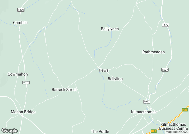 Map for Kilmacthomas, Waterford