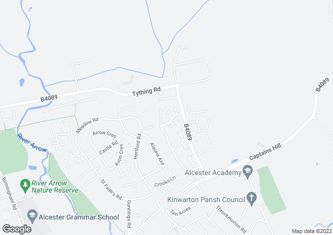 Map for SEYMOUR ROAD, ALCESTER