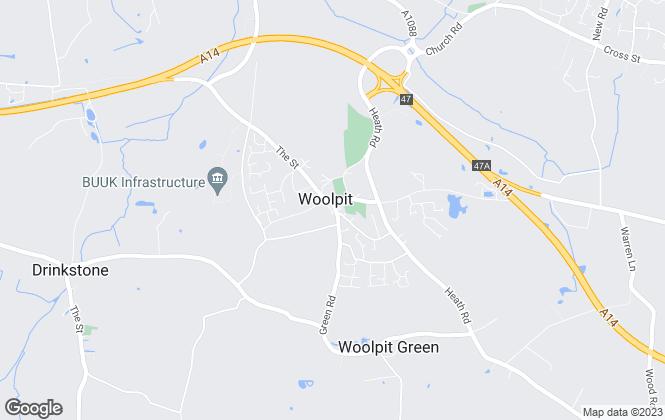 Map for David Burr Estate Agents, Woolpit