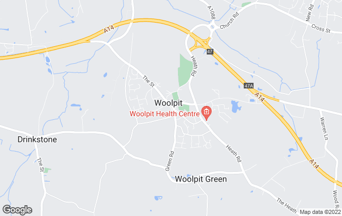 Map for David Burr Estate Agents, Woolpit
