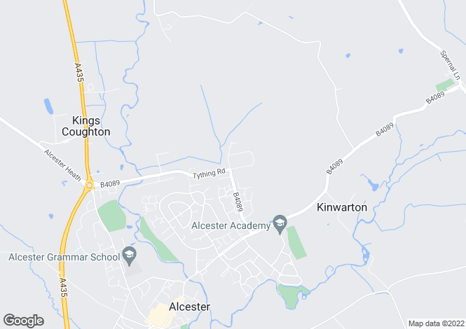 Map for Kinwarton Farm Road, Alcester, B49