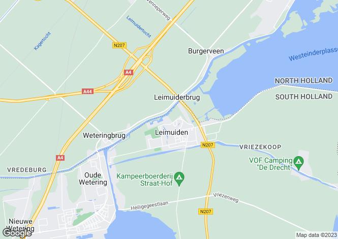 Map for Zuid-Holland, Leimuiden