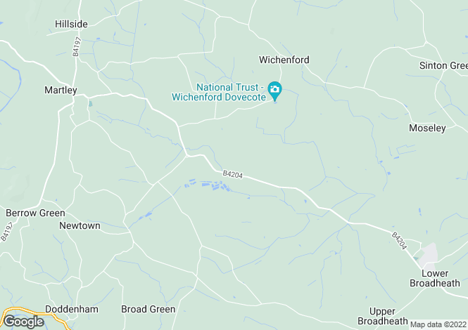 Map for Wichenford, Worcester, Worcestershire