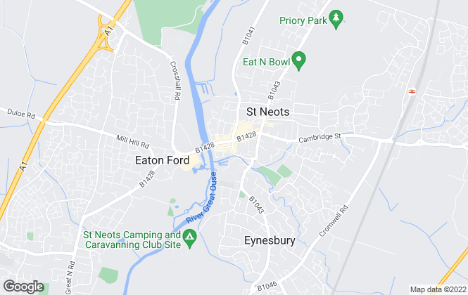 Map for Ten Property Agents, St Neots