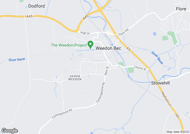 Map for Manor Road, WEEDON, Northamptonshire