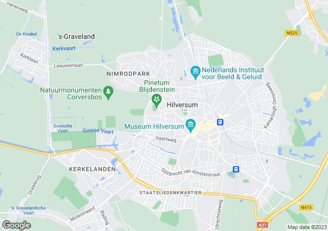 Map for Noord-Holland, Hilversum