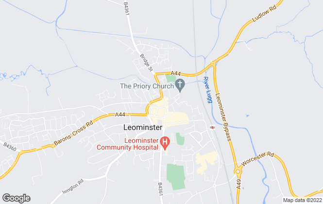 Map for Nock Deighton, Leominster - Lettings
