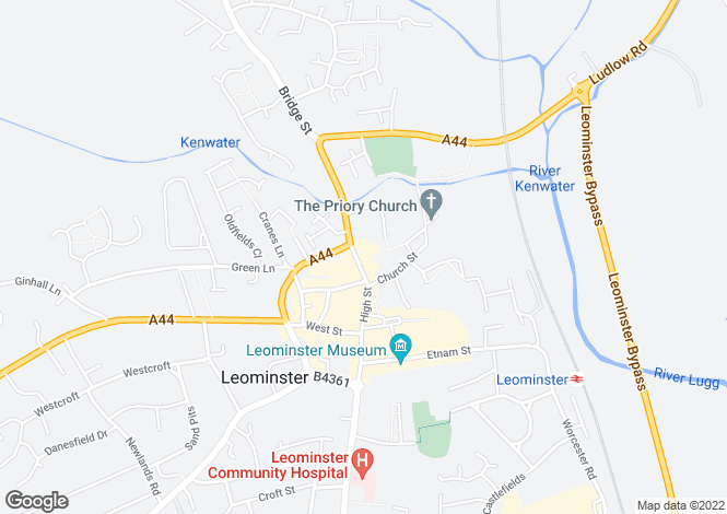 Map for Rossendale House, Broad Street, Leominster, Herefordshire