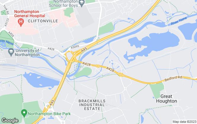 Map for Carter Jonas, Northampton Commercial