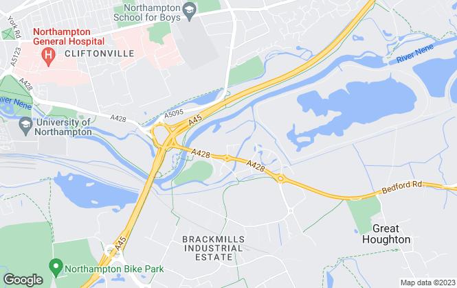 Map for Carter Jonas, Northampton