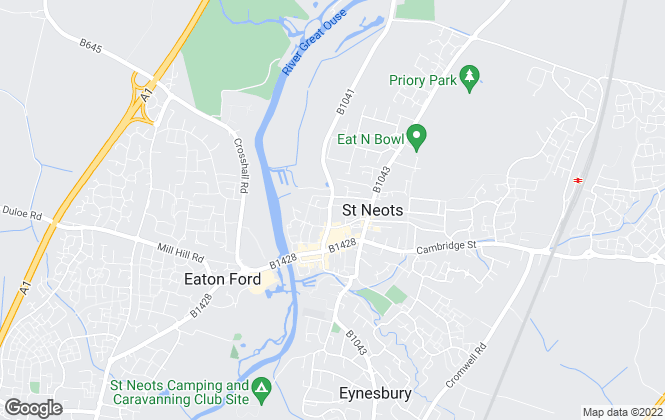 Map for Magpie Property Management Ltd, St Neots