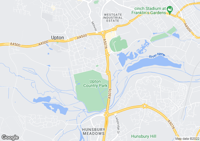 Map for Black Cat Street, Duston, Northamptonshire, NN5