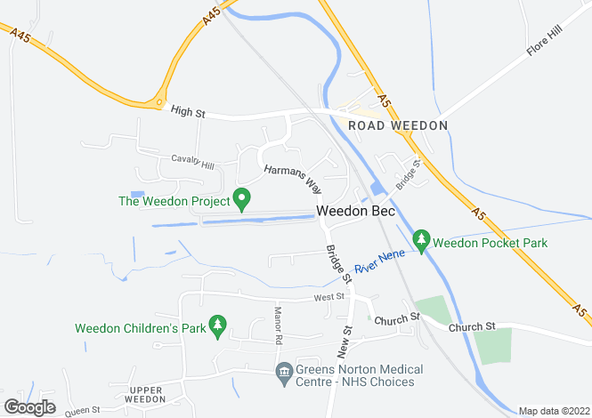 Map for Navigation Way, Weedon Bec, Northamptonshire