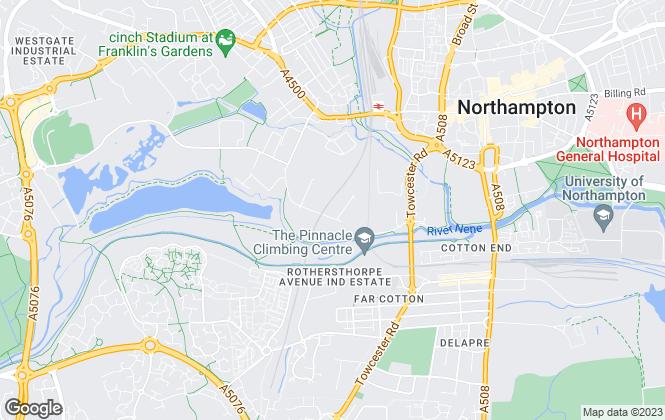 Map for Deborah Dunkley, Northampton