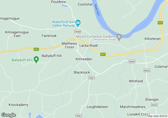Map for Kilmeadan, Waterford