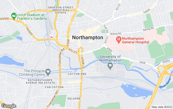 Map for Millers Estate Agents, Northampton