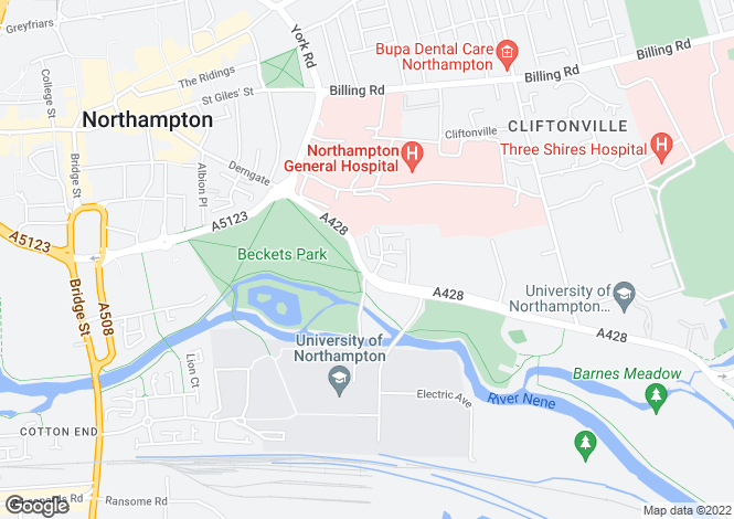 Map for Bedford Road, Northampton, Northamptonshire