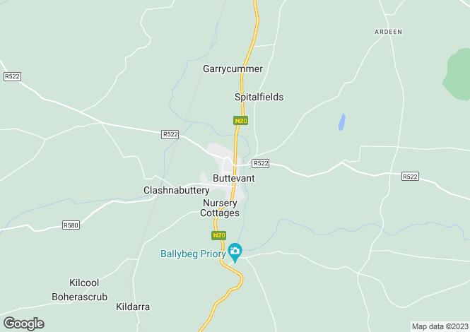 Map for Main Street, Buttevant, Cork