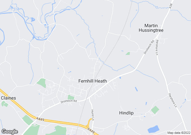 Map for Harcourt Grange, Station Road, Fernhill Heath