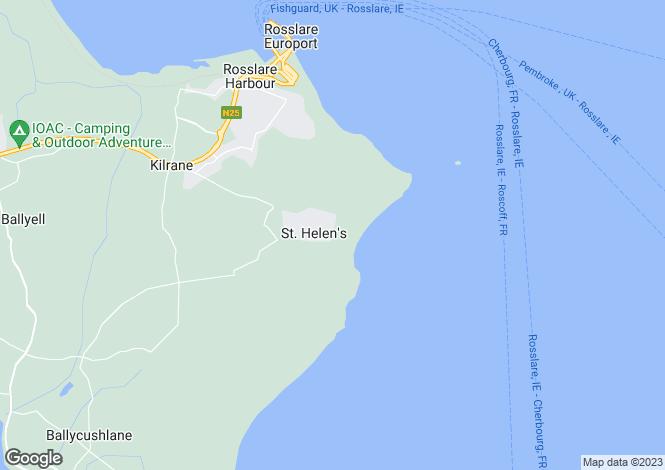 Map for 50 St. Helen's Village, Kilrane, Rosslare, Wexford