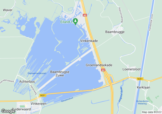 Map for Netherlands - Utrecht, Vinkeveen