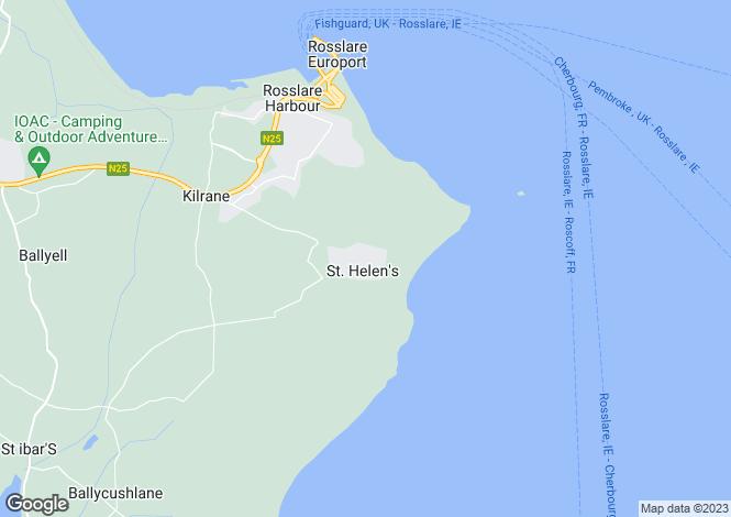 Map for 44 Castle Gardens, St. Helen's Bay Golf Resort, Kilrane, Wexford