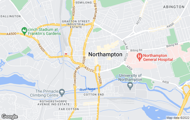 Map for Chown Commercial Limited, Northampton